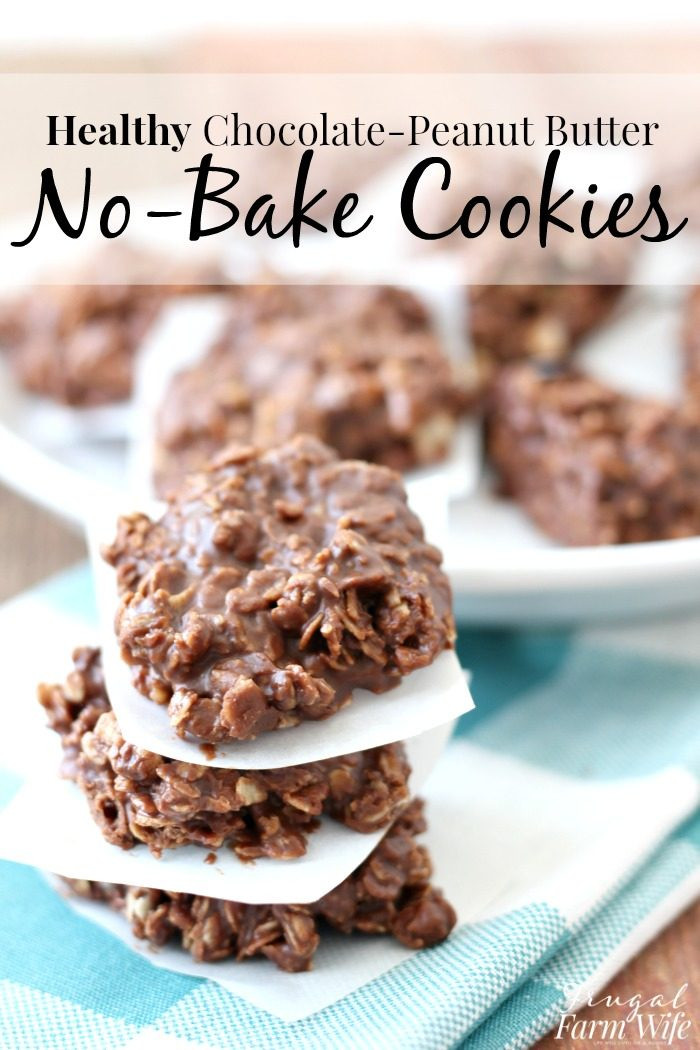 Healthy Chocolate Peanut Butter Cookies  Healthy No Bake Chocolate Peanut Butter Cookies