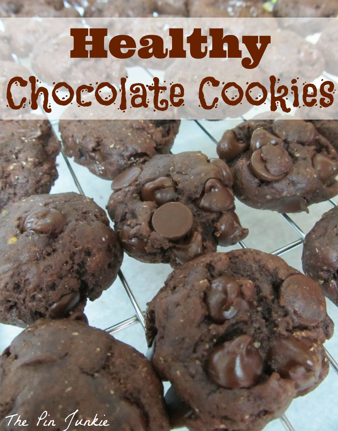 Healthy Chocolate Peanut Butter Cookies  The Pin Junkie Healthy Chocolate Peanut Butter Cookies
