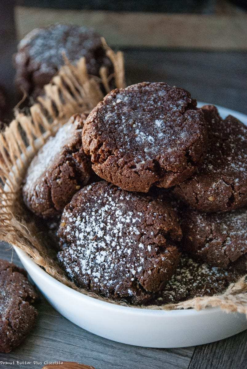 Healthy Chocolate Peanut Butter Cookies  Healthy Chocolate Almond Butter Crinkle Cookies — Peanut