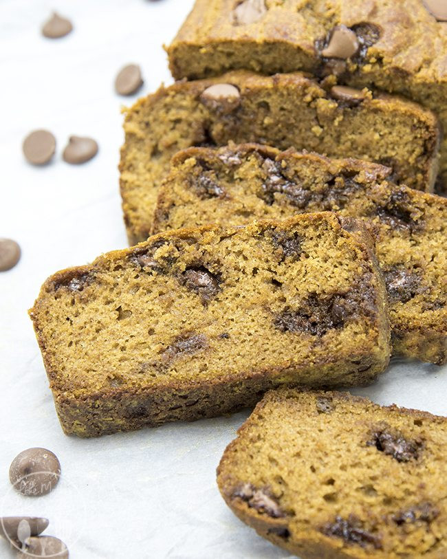 Healthy Chocolate Pumpkin Bread  Healthier Pumpkin Chocolate Chip Bread Lmldfood