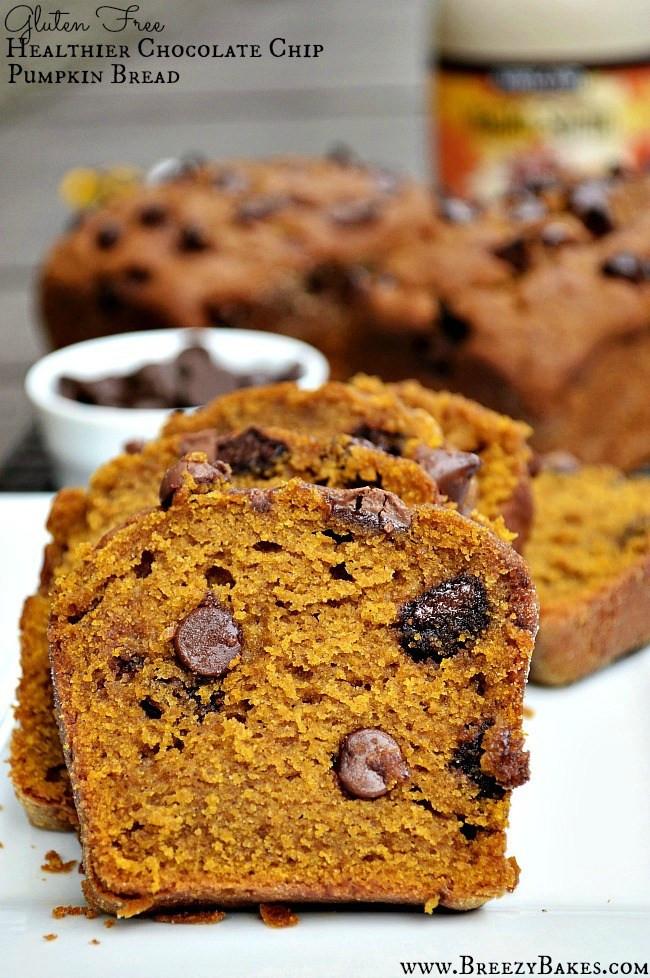 Healthy Chocolate Pumpkin Bread  Gluten Free Healthy Chocolate Chip Pumpkin Bread Breezy