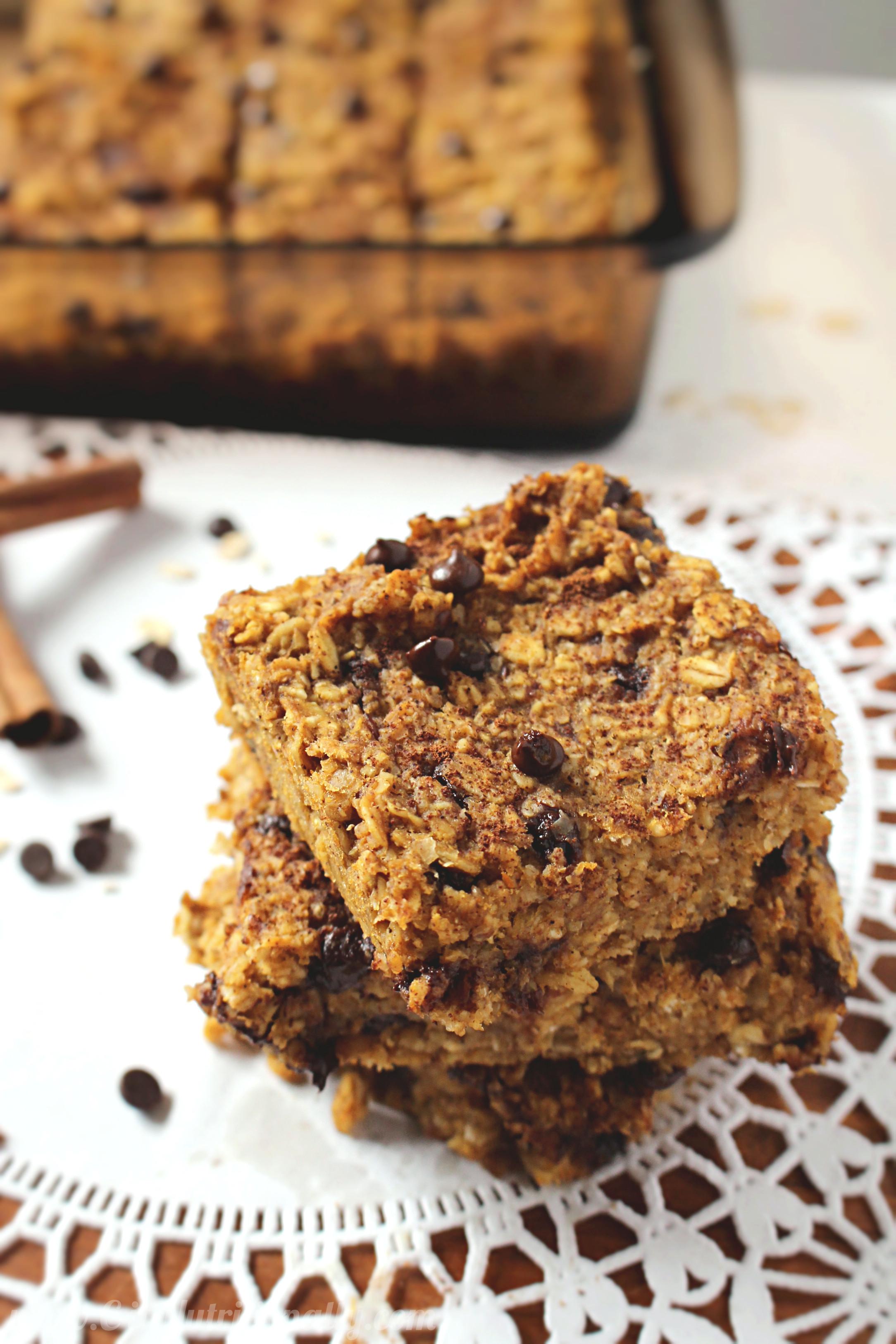 Healthy Chocolate Pumpkin Bread  Healthy Chocolate Chip Pumpkin Bread Oatmeal Bars C it
