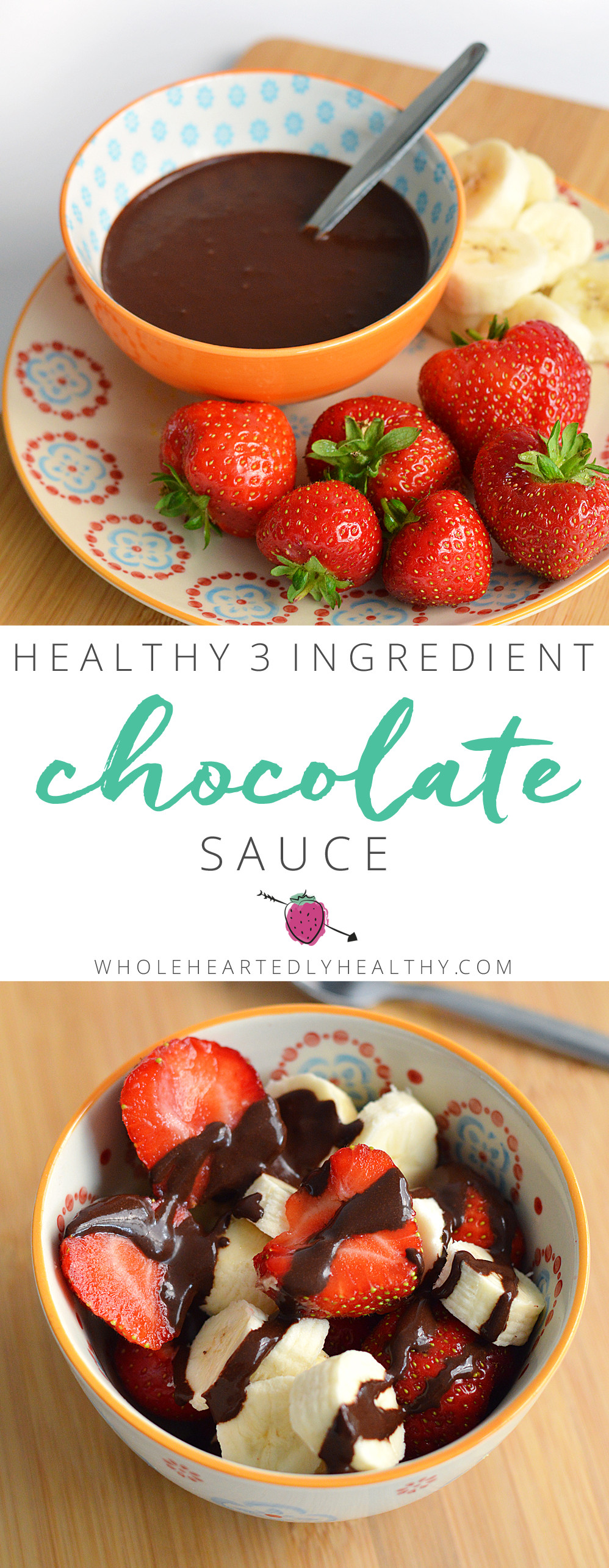 Healthy Chocolate Sauce  Healthy 3 Ingre nt Chocolate Sauce Wholeheartedly