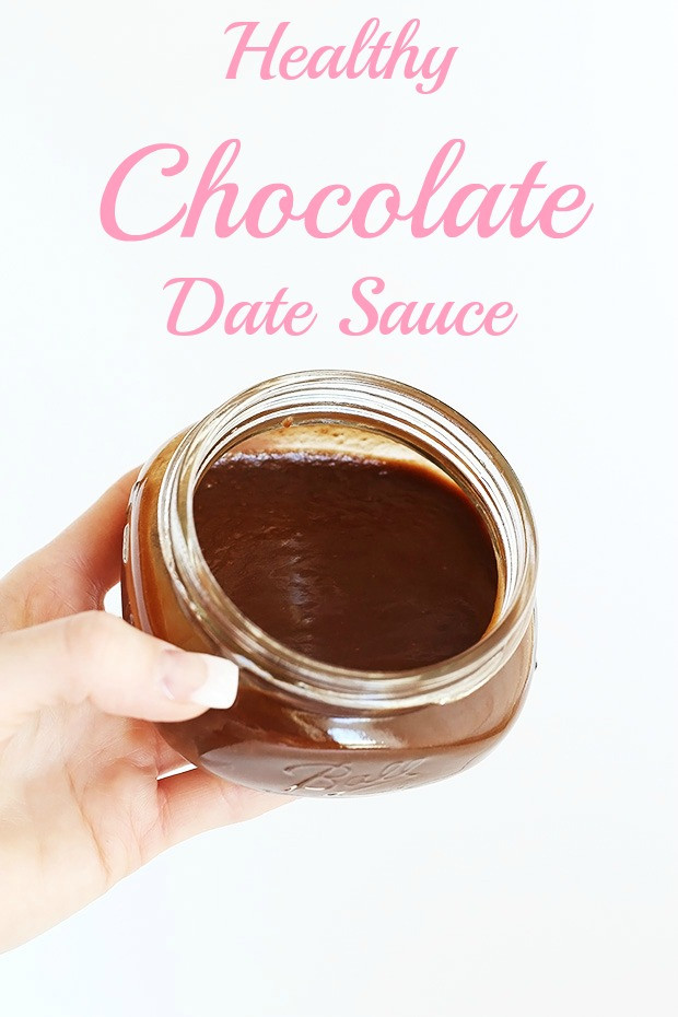 Healthy Chocolate Sauce  Healthy Chocolate Date Sauce TwoRaspberries