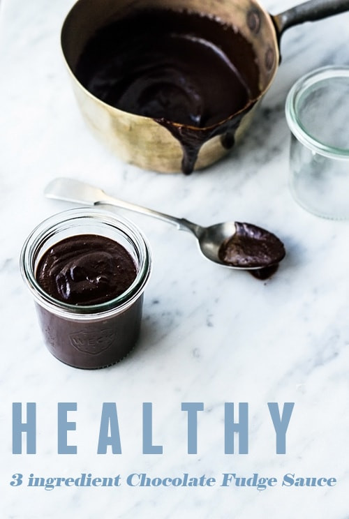 Healthy Chocolate Sauce  Healthy 3 ingre nt Chocolate Fudge Sauce no added sugar