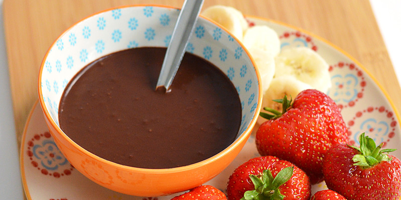 Healthy Chocolate Sauce  Healthy 3 Ingre nt Chocolate Sauce Wholeheartedly Laura