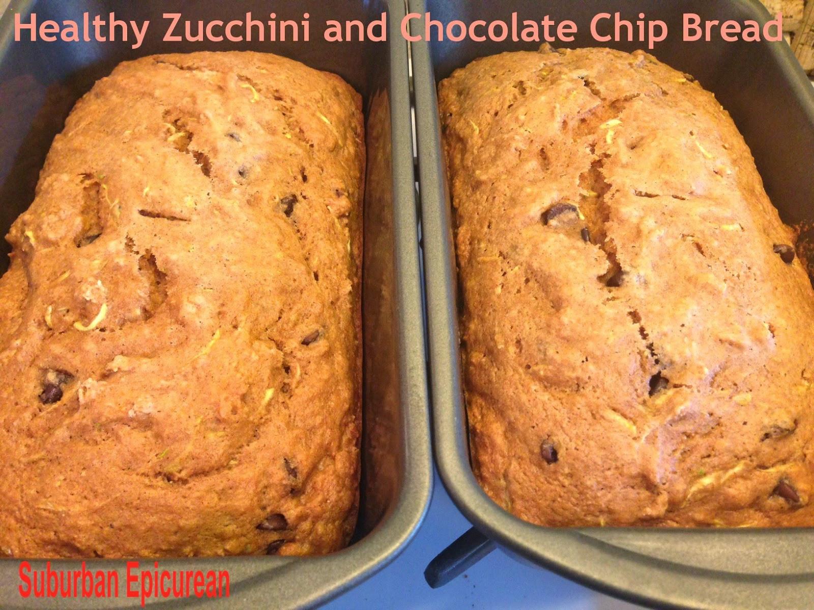 Healthy Chocolate Zucchini Bread  Suburban Epicurean Healthy Chocolate Chip Zucchini Bread