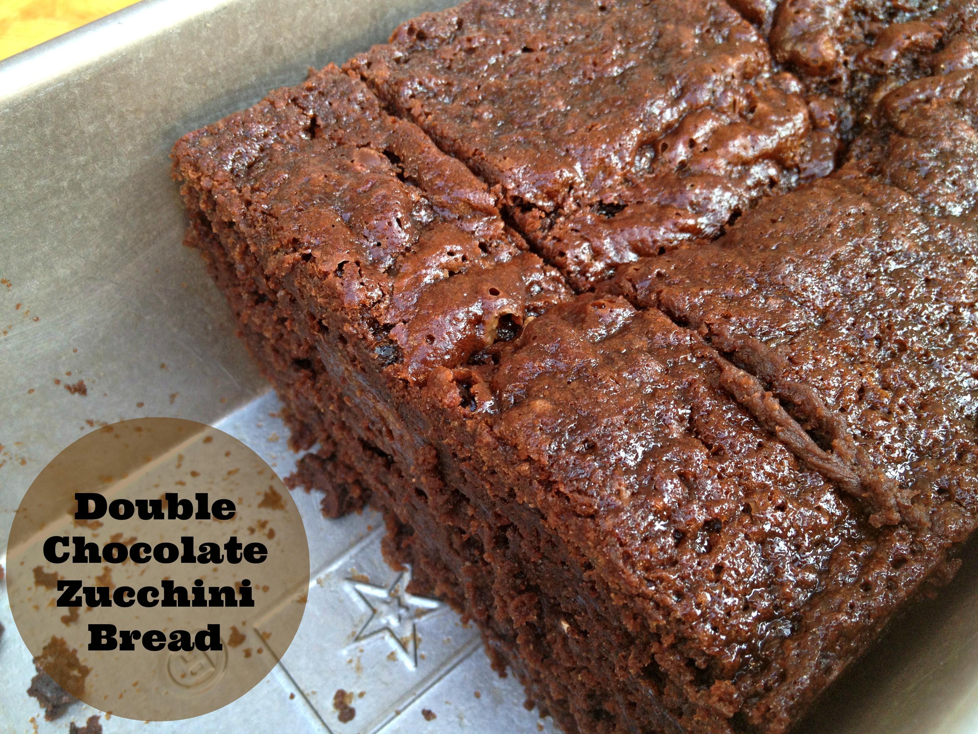 Healthy Chocolate Zucchini Bread Recipe  Double Chocolate Zucchini Bread Cooking with Books