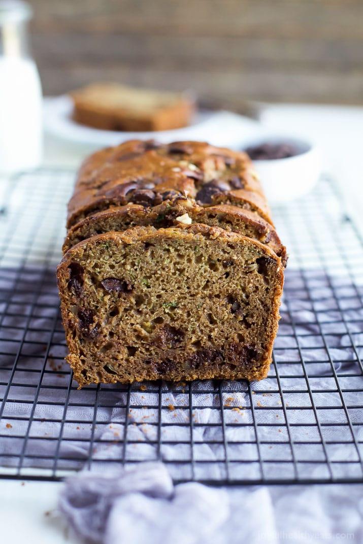 Healthy Chocolate Zucchini Bread Recipe  healthy chocolate chip zucchini bread