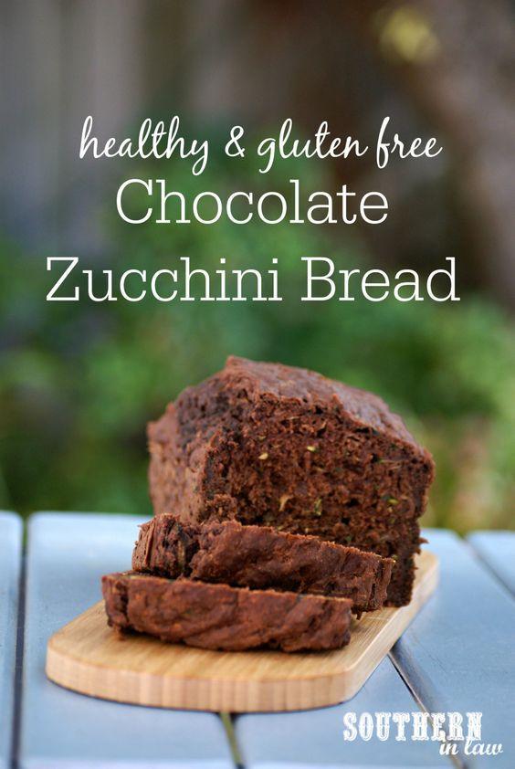 Healthy Chocolate Zucchini Bread Recipe  Recipe Healthy Chocolate Zucchini Bread Gluten Free