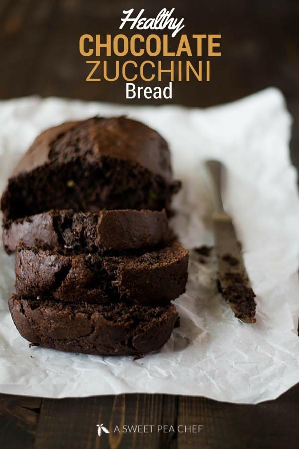 Healthy Chocolate Zucchini Bread  Healthy Chocolate Zucchini Bread • A Sweet Pea Chef