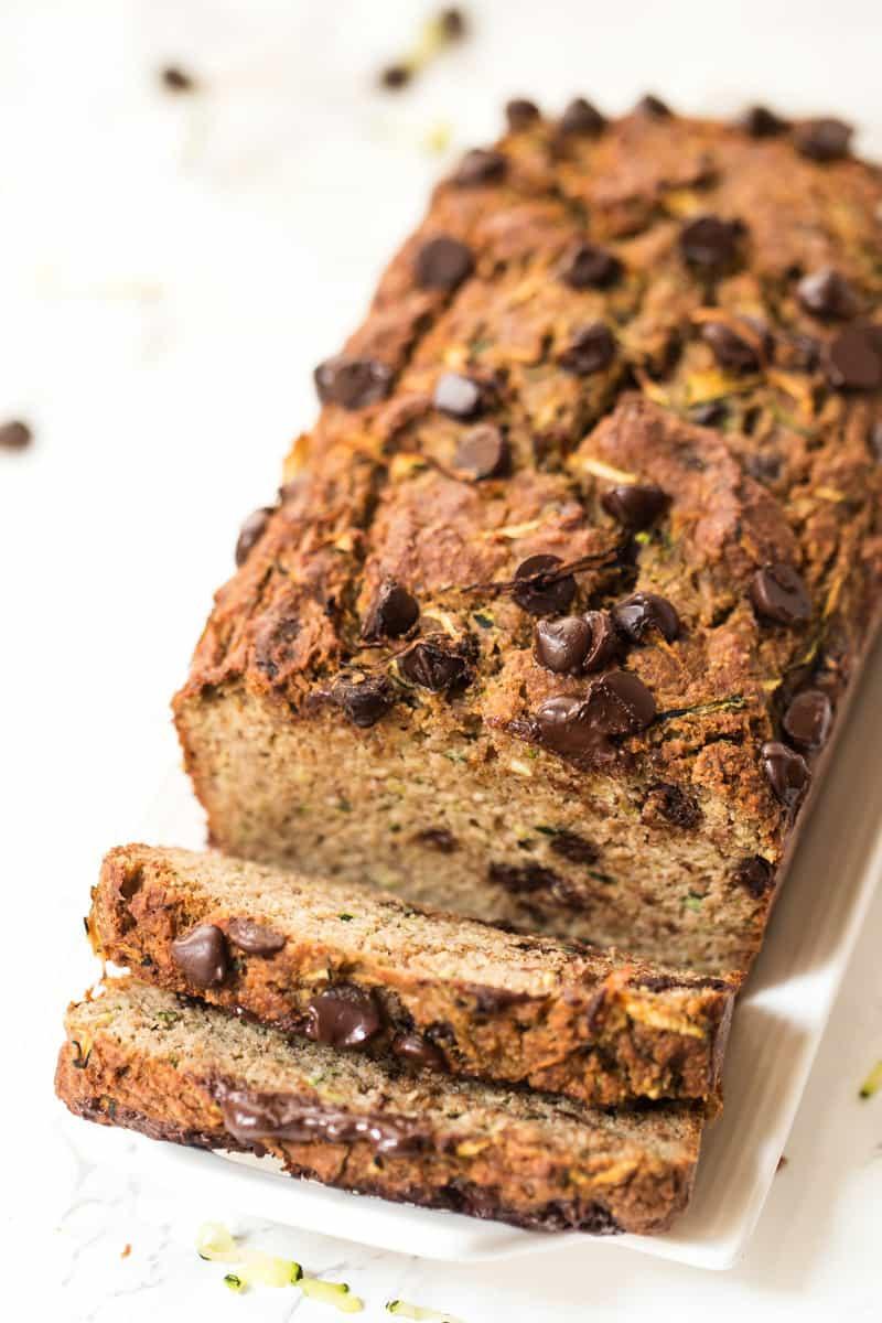 Healthy Chocolate Zucchini Bread  Healthy Chocolate Chip Zucchini Bread Simply Quinoa