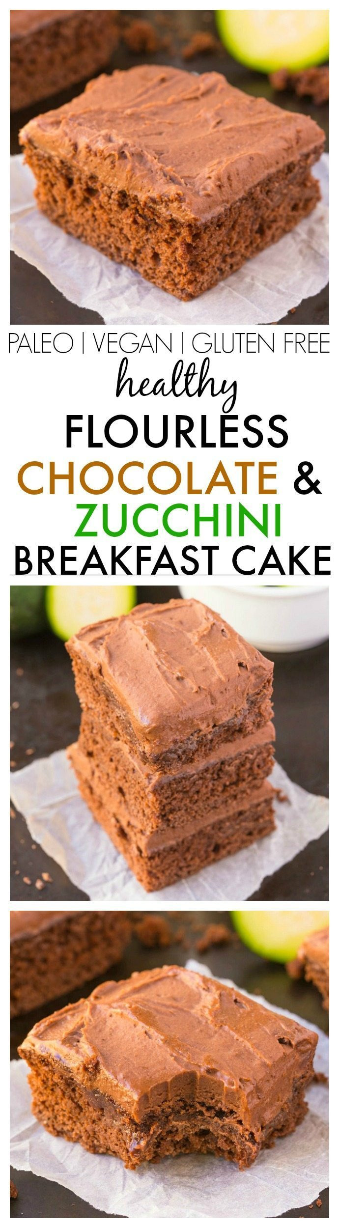 Healthy Chocolate Zucchini Cake  Healthy Flourless Chocolate Zucchini Breakfast Cake