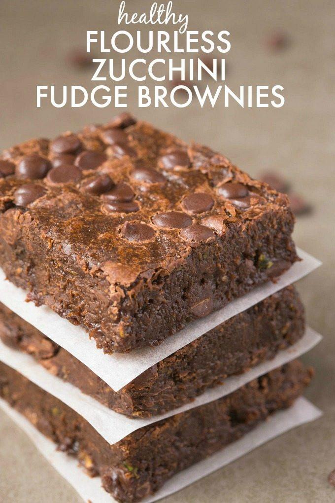Healthy Chocolate Zucchini Cake  Healthy Flourless Zucchini Fudge Brownies