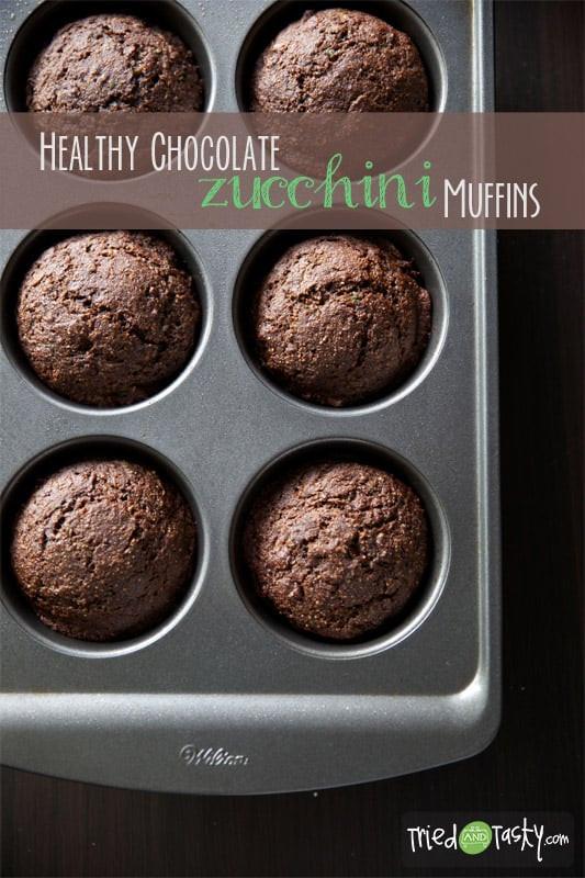 Healthy Chocolate Zucchini Muffins  Healthy Chocolate Zucchini Muffins Tried and Tasty