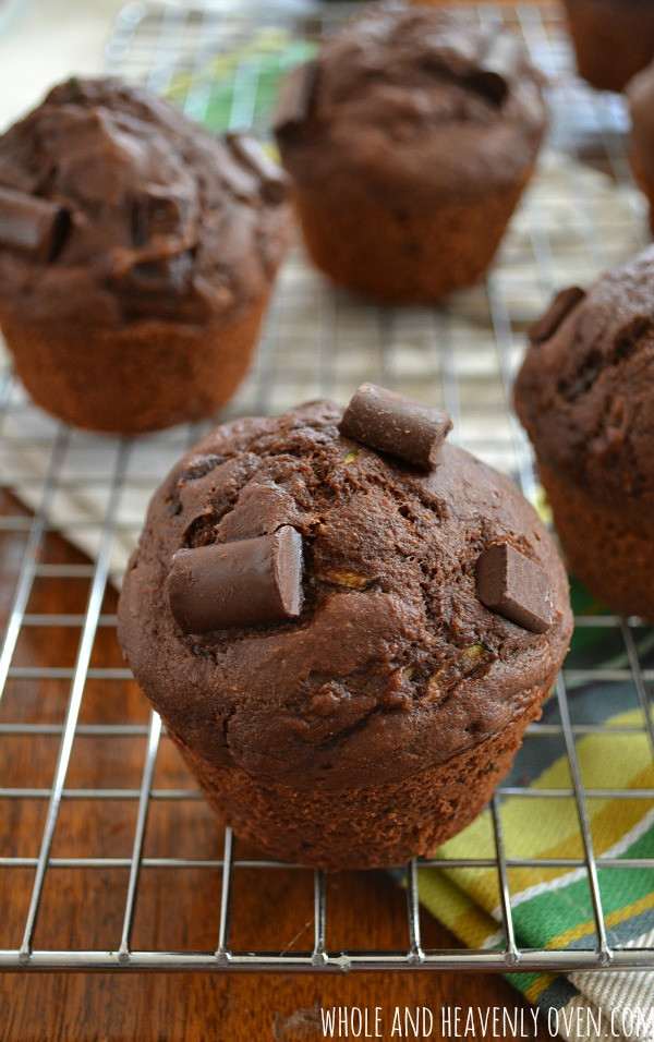 Healthy Chocolate Zucchini Muffins  Healthy Chocolate Zucchini Muffins