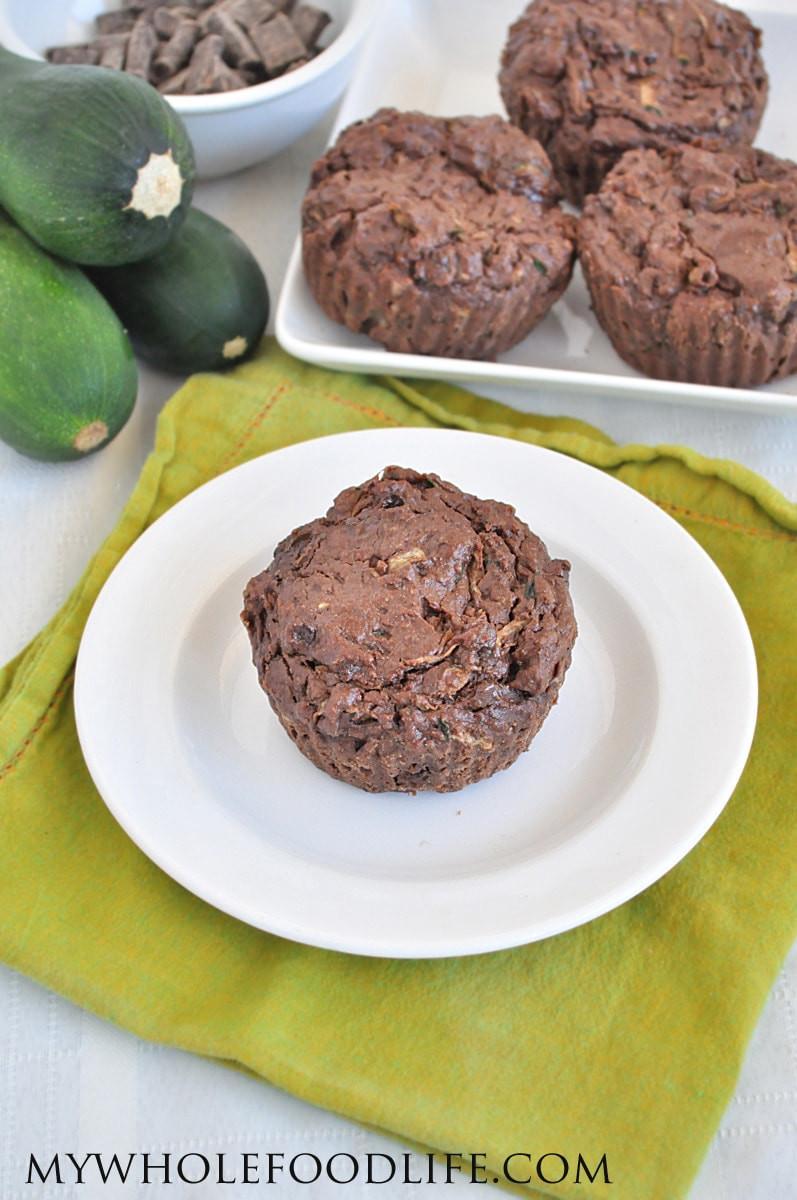Healthy Chocolate Zucchini Muffins  Chocolate Zucchini Muffins Vegan and Gluten Free My