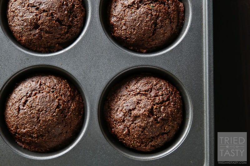 Healthy Chocolate Zucchini Muffins  Healthy Chocolate Zucchini Muffins VIDEO Tried and Tasty