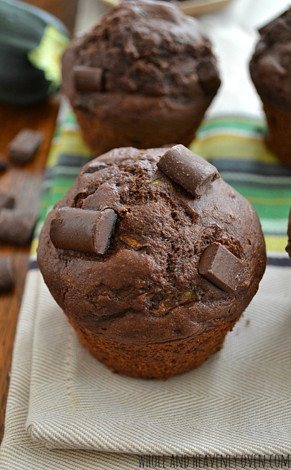 Healthy Chocolate Zucchini Muffins  Top 25 Recipes of 2015 on Whole and Heavenly Oven Whole