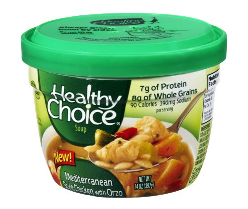 Healthy Choice Chicken Noodle soup the Best Healthy Choice soup Microwave Bowl Mediterranean Style