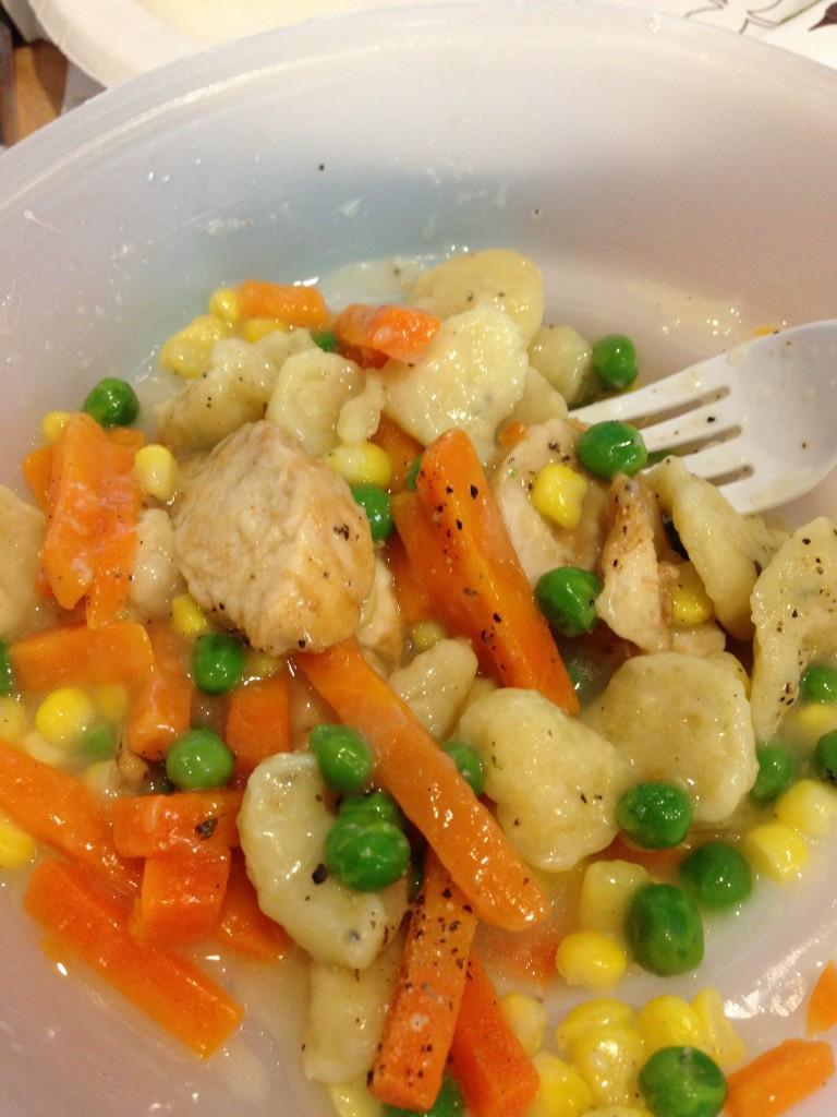 Healthy Choice Crustless Chicken Pot Pie  Frozen veggies frozen meals oh my With Just a Bit
