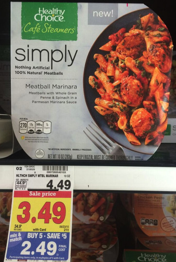 Healthy Choice Dinners  Healthy Choice Simply Frozen Meals ly $1 99 at Kroger