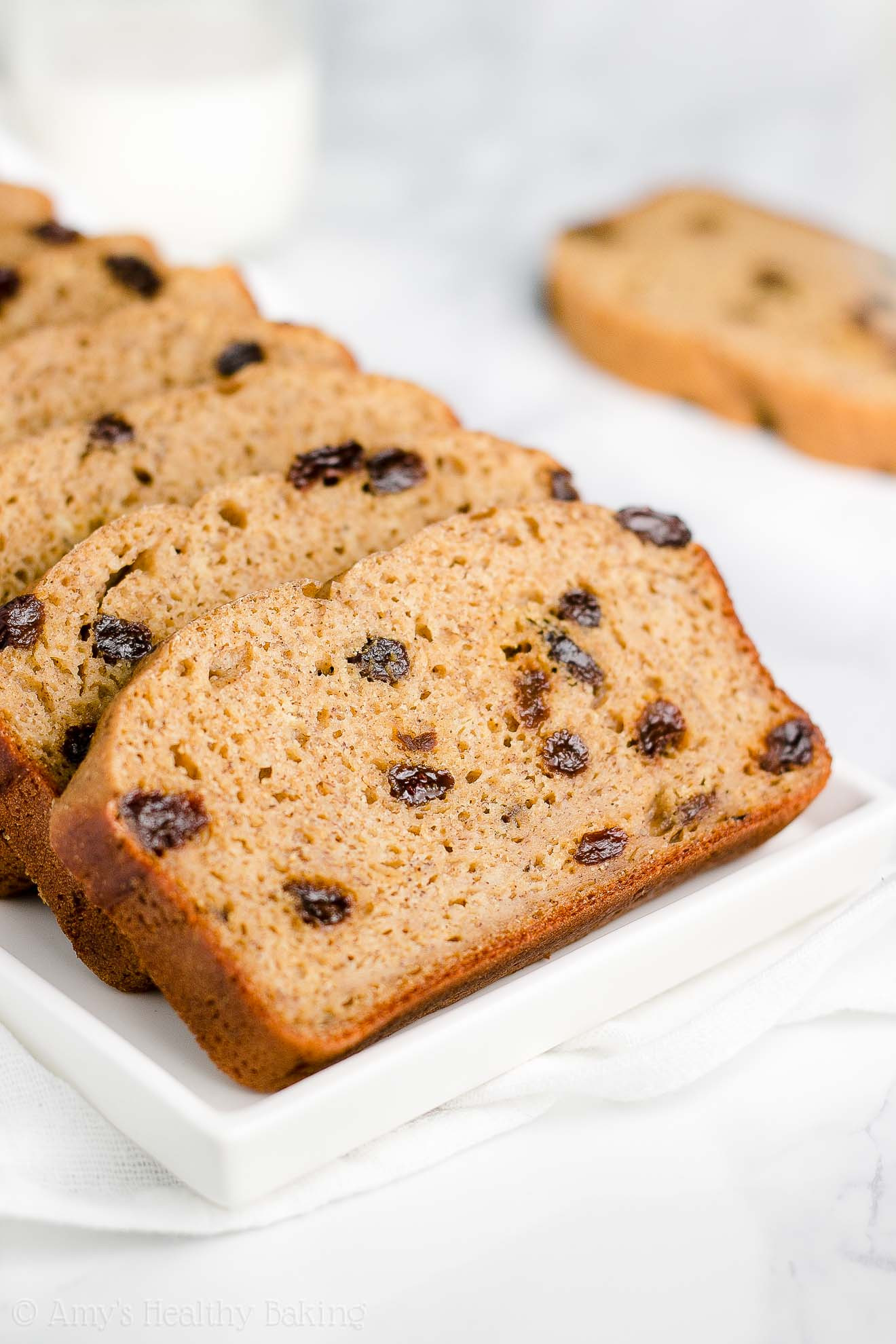 Healthy Cinnamon Bread  Healthy Cinnamon Raisin Banana Bread
