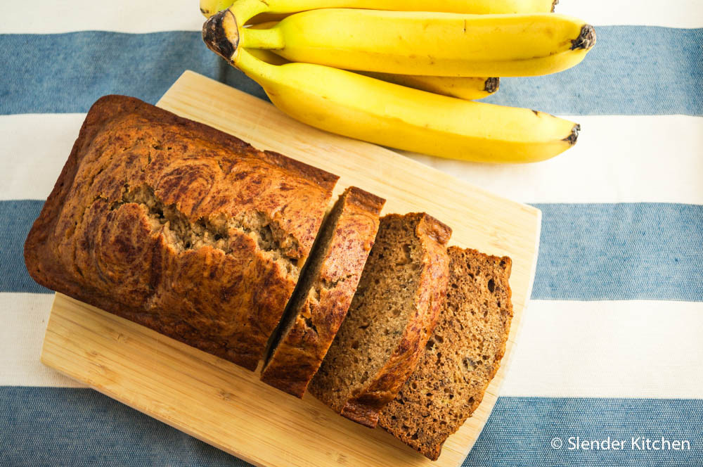 Healthy Cinnamon Bread  Healthy Cinnamon Banana Bread Slender Kitchen