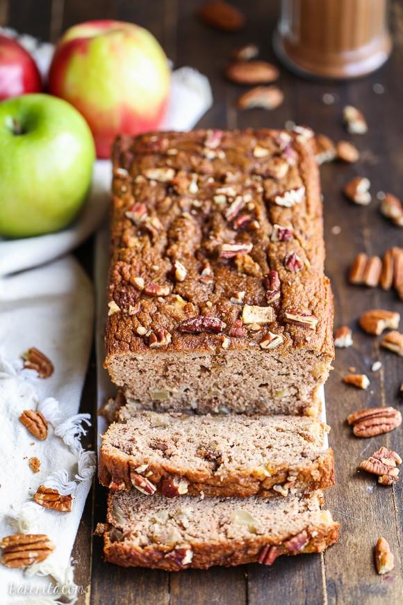Healthy Cinnamon Bread  Apple Cinnamon Bread Paleo Gluten Free Refined Sugar Free