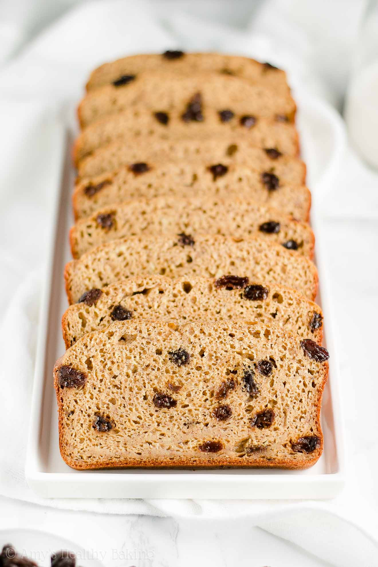 Healthy Cinnamon Raisin Bread  Healthy Cinnamon Raisin Banana Bread