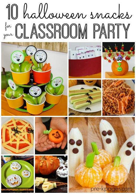Healthy Classroom Snacks  Classroom Halloween Party Snacks