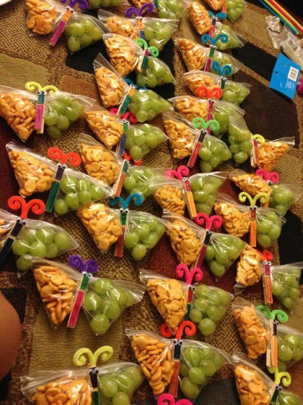 Healthy Classroom Snacks  Butterfly healthy birthday snack