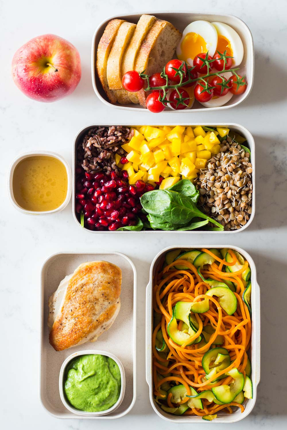 Healthy Clean Dinners  Clean Eating Meal Plan 1 full day prepped in 40 mins