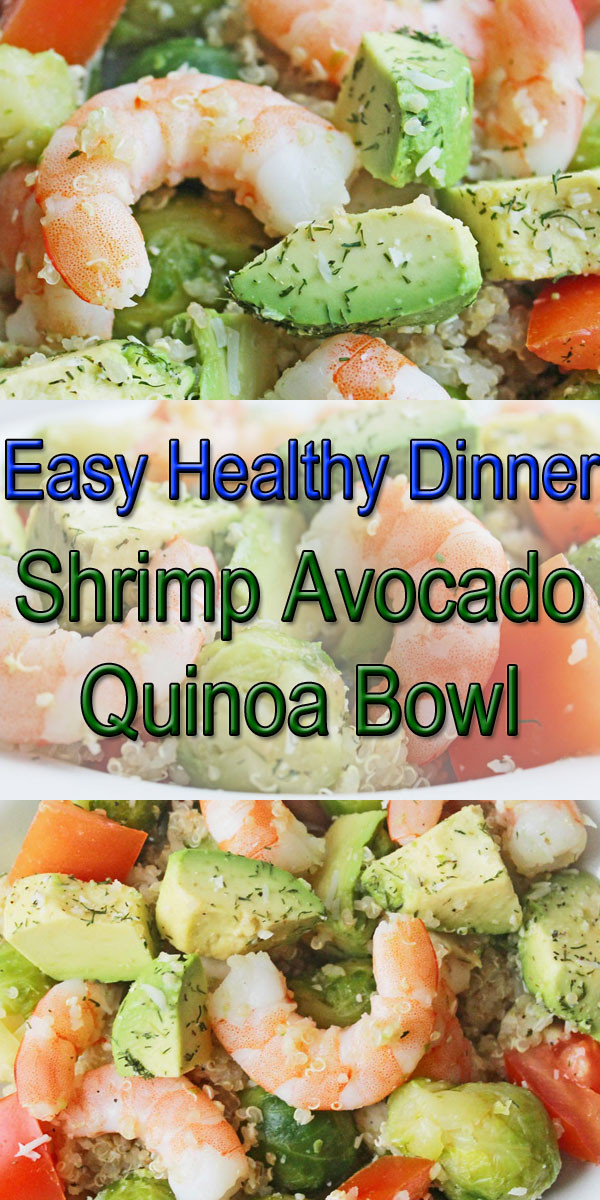Healthy Clean Dinners  Healthy Dinner Recipe Shrimp Avocado Quinoa Bowl