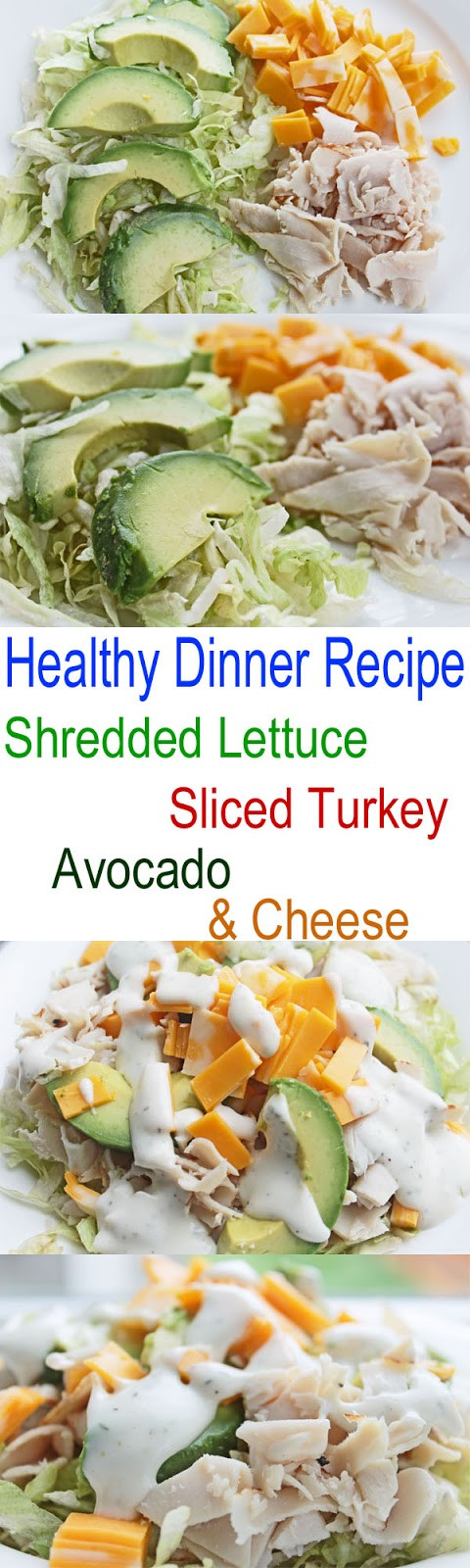 Healthy Clean Dinners  Healthy Dinner Recipe Shredded Lettuce Sliced Turkey