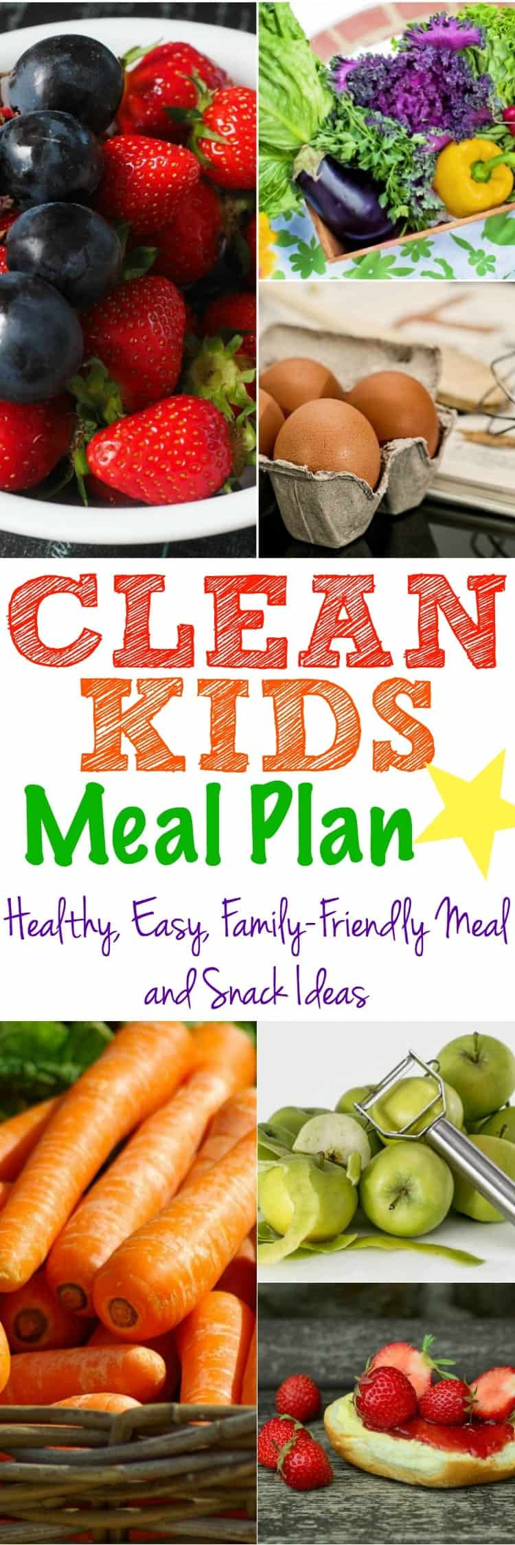 Healthy Clean Dinners  Clean Kids Meal Plan The Seasoned Mom