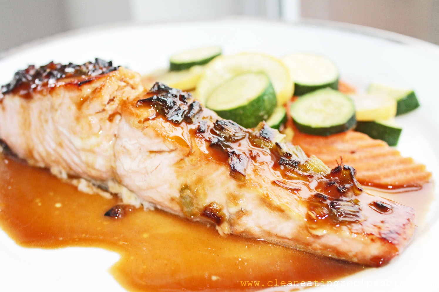 Healthy Clean Eating Recipes  Clean Eating Recipe Agave Ginger Glazed Salmon