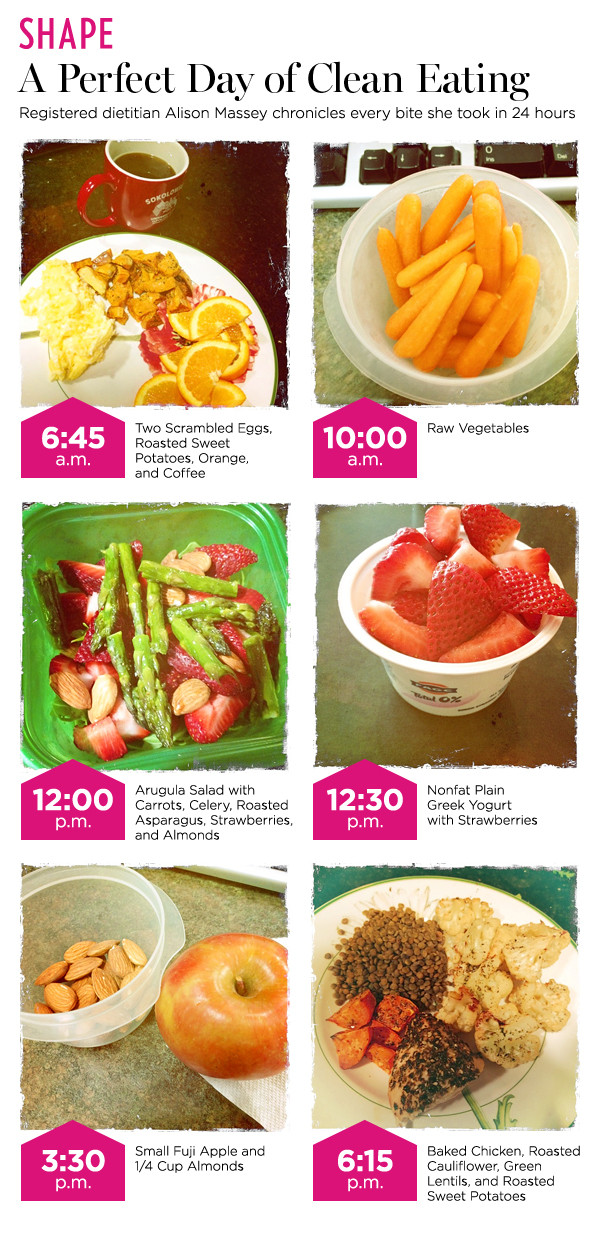 Healthy Clean Eating Snacks  Healthy Diets A Day's Worth of Clean Eating Meals and