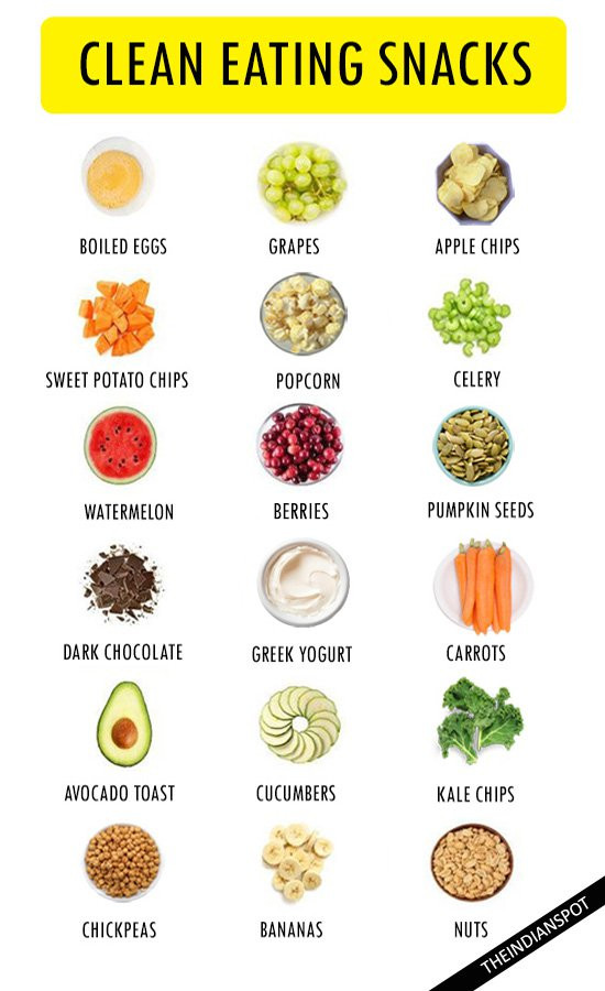 Healthy Clean Snacks  25 CLEAN EATING SNACKS THE INDIAN SPOT