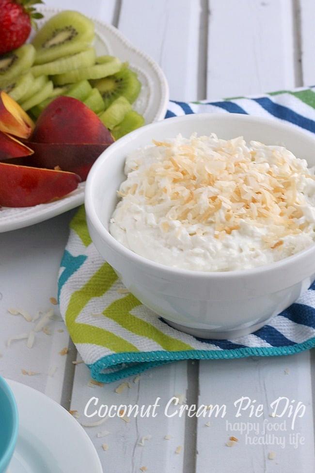 Healthy Coconut Cream Pie  Coconut Cream Pie Dip Happy Food Healthy Life