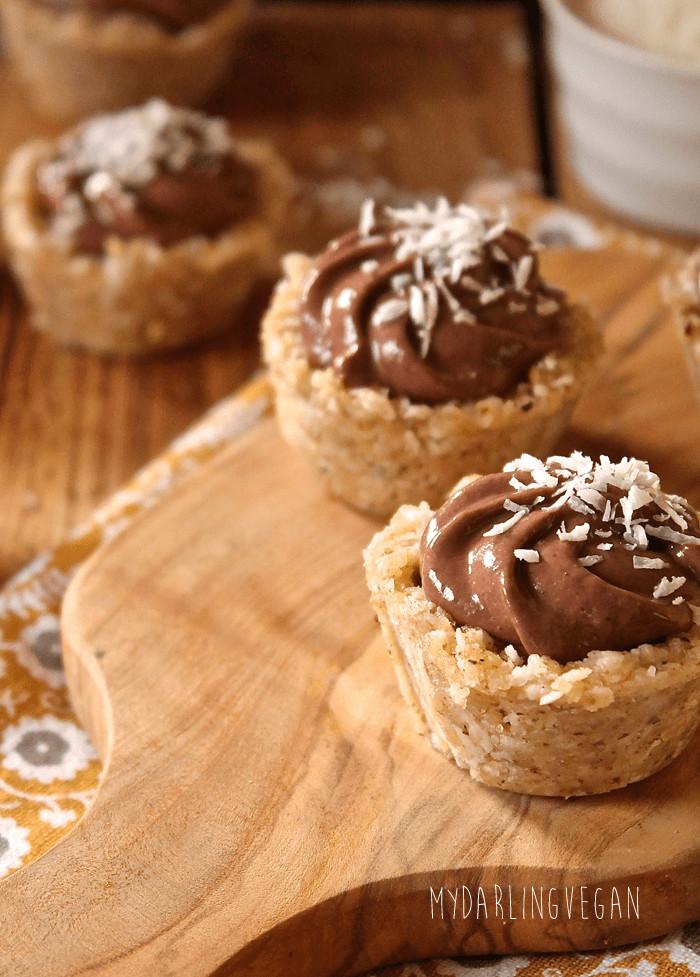 Healthy Coconut Cream Pie  Vegan Coconut Cream Mini Pies