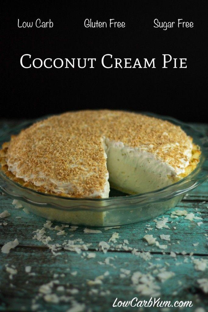 Healthy Coconut Cream Pie  Best 25 Coconut cream ideas on Pinterest