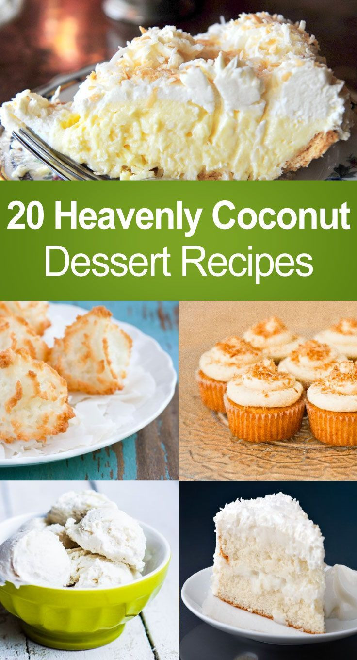 Healthy Coconut Desserts  590 best images about sweets and treats on Pinterest