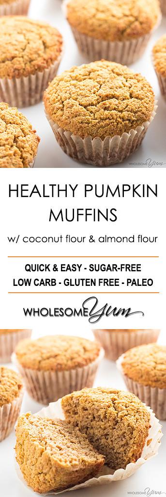 Healthy Coconut Flour Recipes  Healthy Pumpkin Muffins Recipe with Coconut Flour & Almond