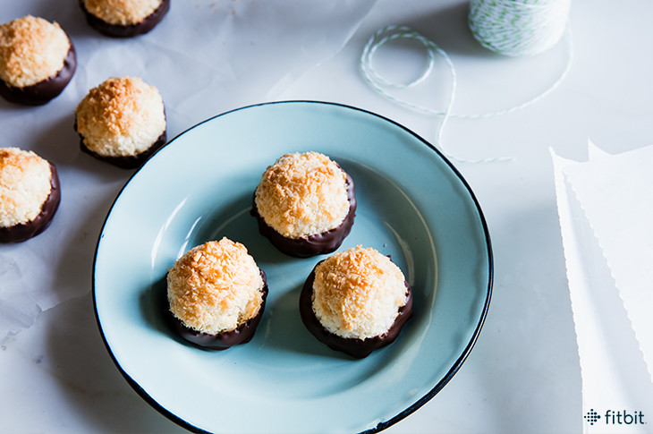 Healthy Coconut Macaroons Recipe  Healthy Recipe Chocolate & Coconut Macaroons Fitbit Blog