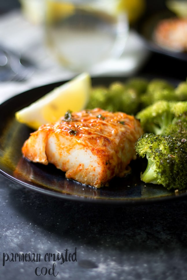 Healthy Cod Fish Recipes  Parmesan Crusted Cod Kim s Cravings