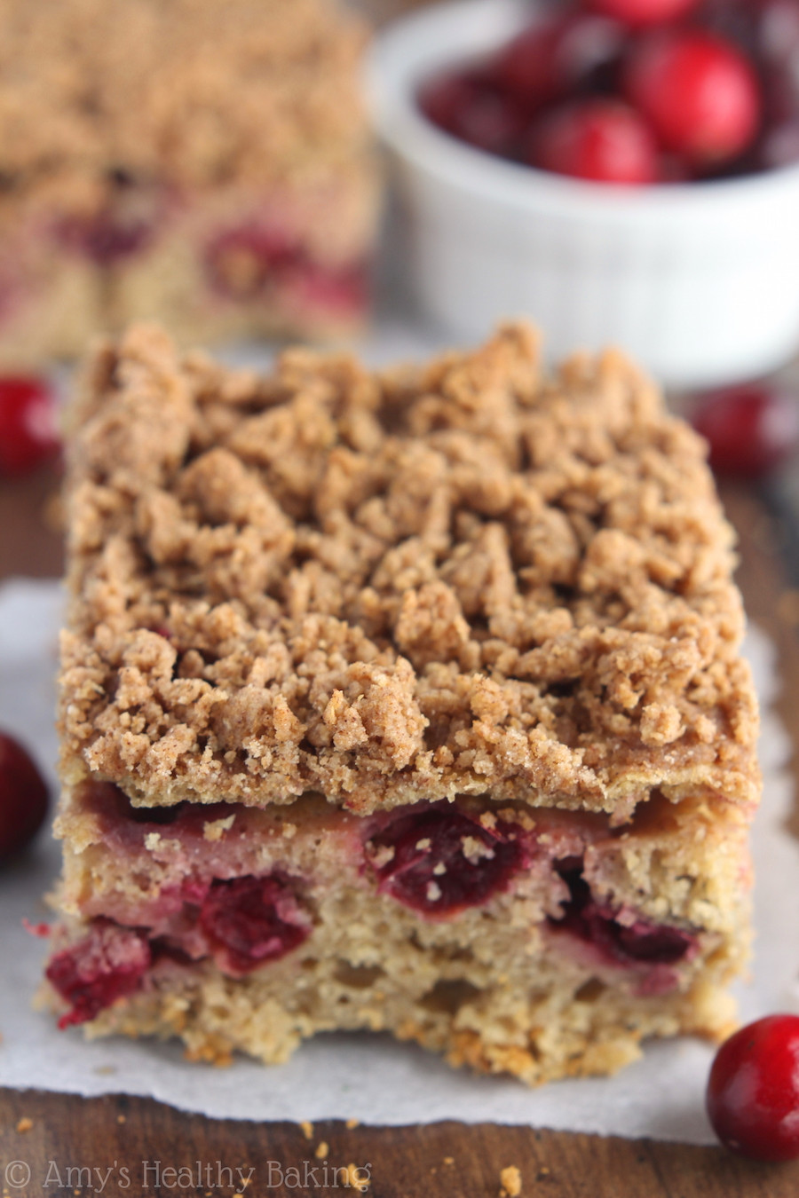 Healthy Coffee Cake  Cranberry Crumb Coffee Cake
