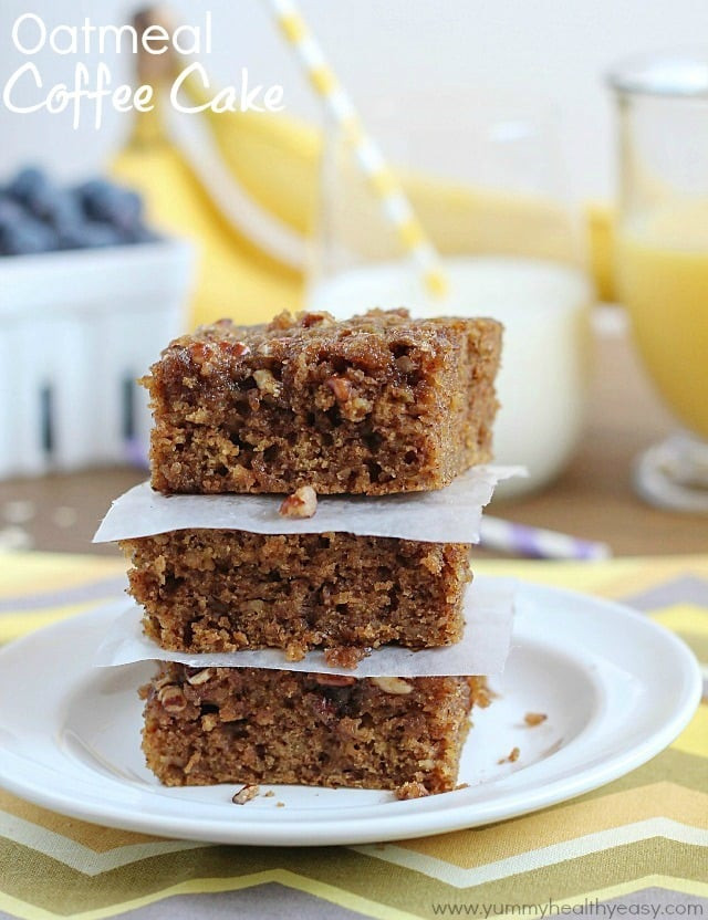 Healthy Coffee Cake  oat flour coffee cake