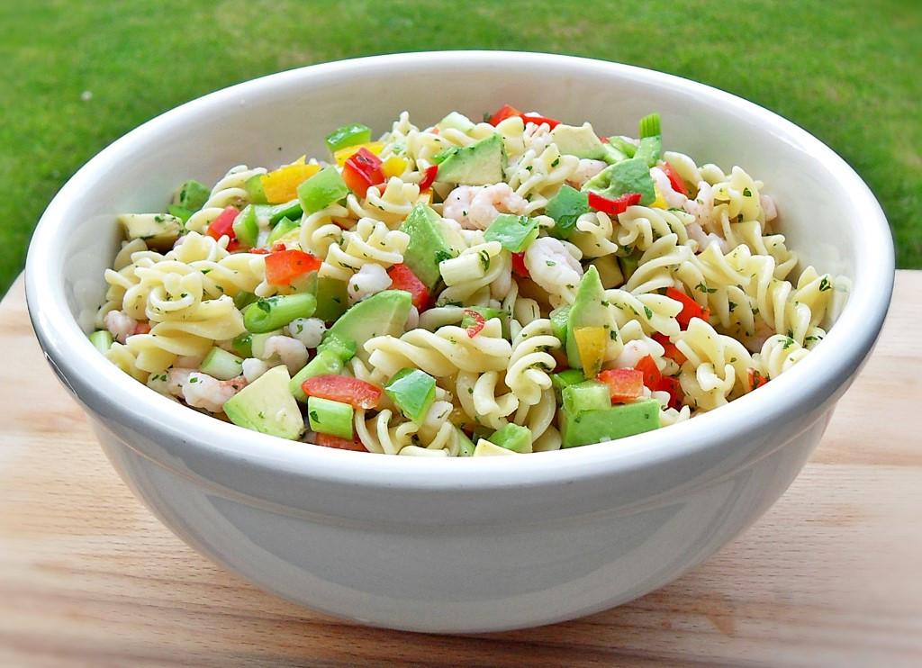 Healthy Cold Pasta Salad  Chilli Prawn and Pasta Salad Fab Food 4 All