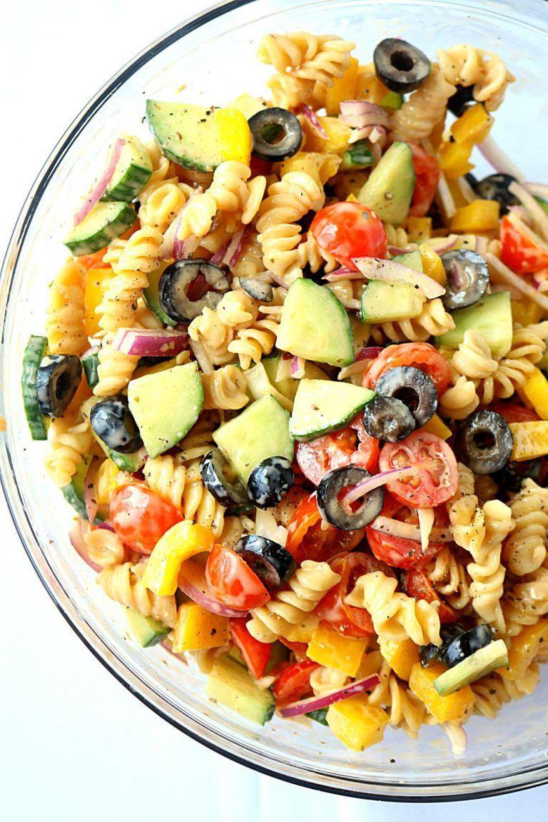 Healthy Cold Pasta Salad  No Cook Healthy Pasta Salad Healthy veggie pasta salad